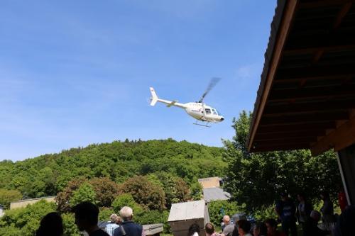25 Jahre Jubiläum Helikopterlandung